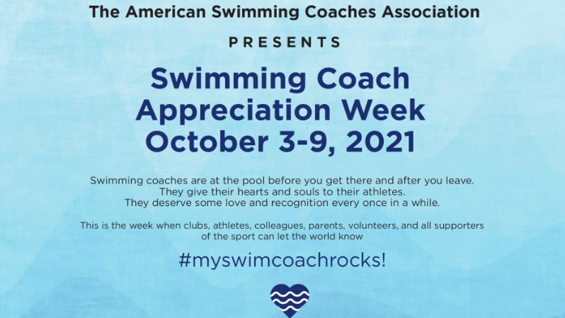 Swimming coach appreciation week